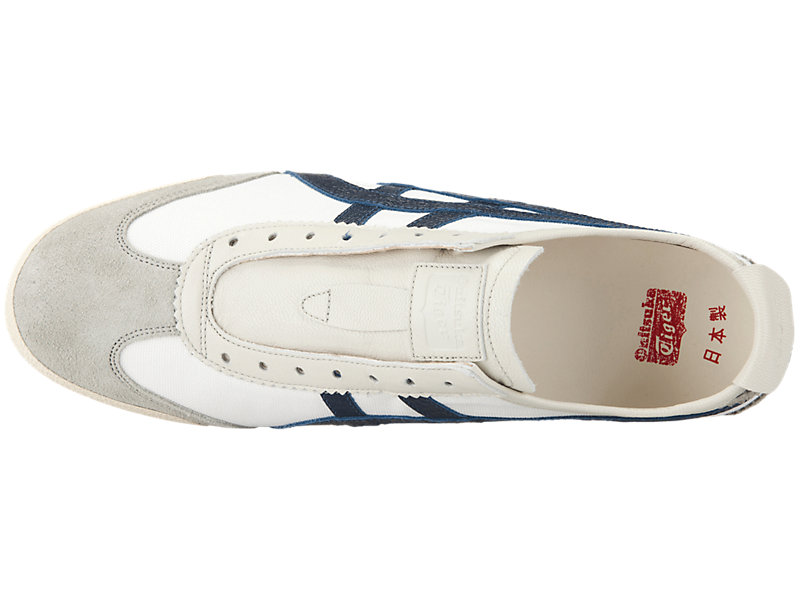 MEXICO SLIP-ON DELUXE WHITE/INDIGO BLUE 21 TP