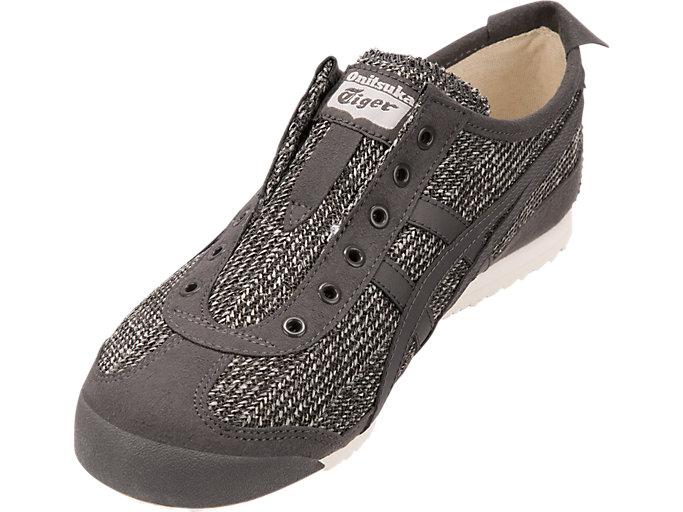 Front Left view of MEXICO 66 SLIP-ON, BLACK/BLACK