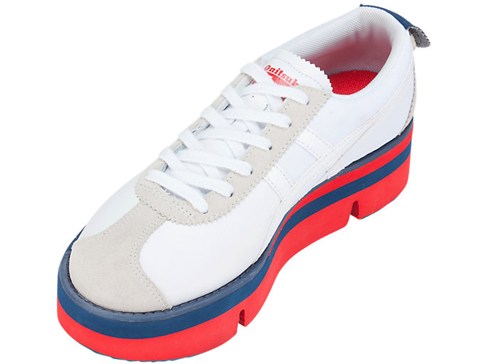 Front Left view of Pokkuri Sneaker Platform, WHITE/WHITE