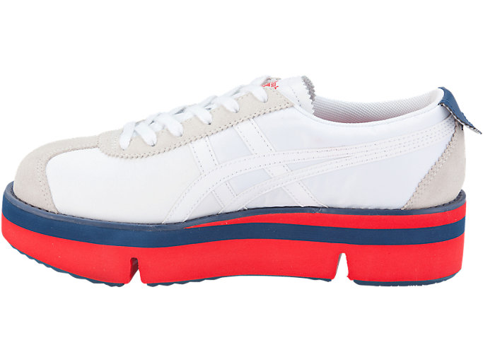 Left side view of Pokkuri Sneaker Platform, WHITE/WHITE
