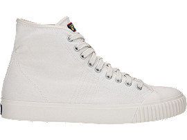 Right side view of OK Basketball Mid-Top, CREAM/CREAM