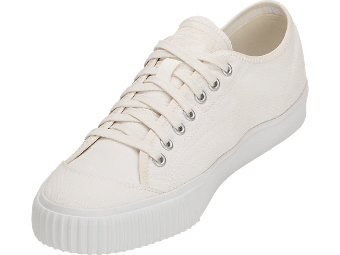 Front Left view of OK Basketball Low-Top, CREAM/CREAM