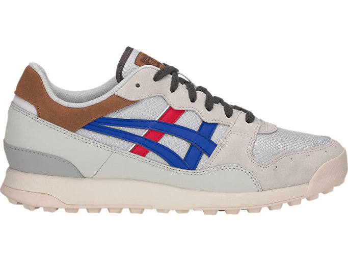 Right side view of TIGER HORIZONIA™, GLACIER GREY/ASICS BLUE