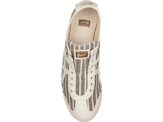 Top view of MEXICO 66 SLIP-ON, BROWN/CREAM