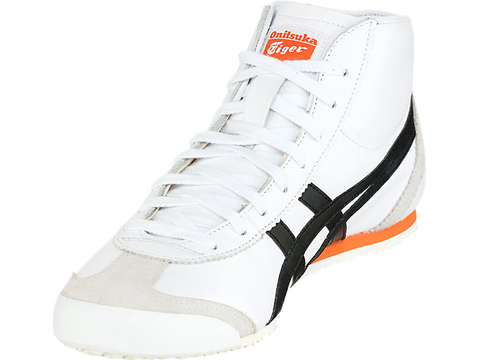 Front Left view of MEXICO MID RUNNER, WHITE/BLACK