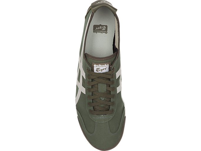 Top view of MEXICO 66, OLIVE GREEN/CREAM