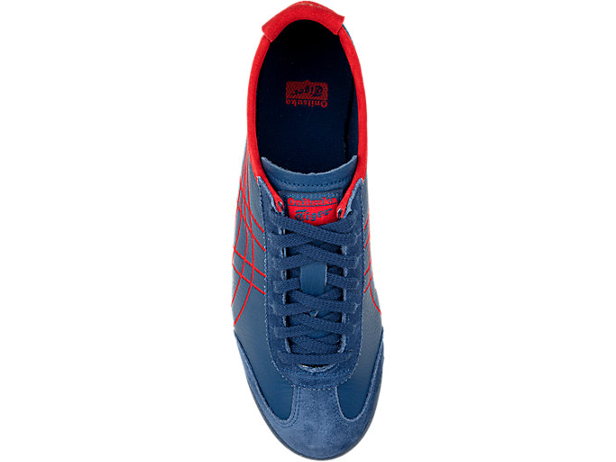 Top view of MEXICO 66, MIDNIGHT BLUE/CLASSIC RED
