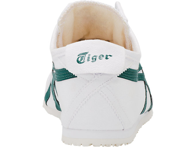 Back view of Mexico 66 Slip-On, WHITE/SPRUCE GREEN