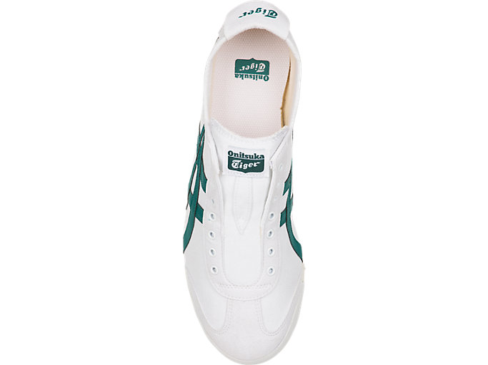 Top view of Mexico 66 Slip-On, WHITE/SPRUCE GREEN