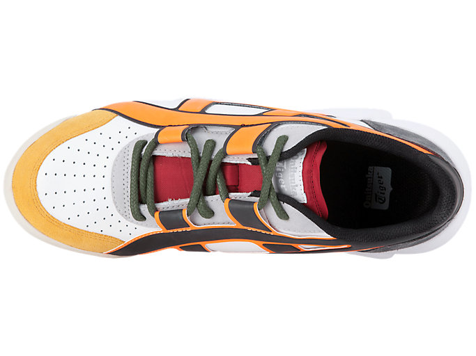 Top view of BIG LOGO TRAINER, WHITE/SHOCKING ORANGE