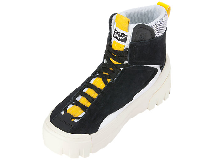 Front Left view of CHUNKY RUNNER MT, BLACK/VIBRANT YELLOW