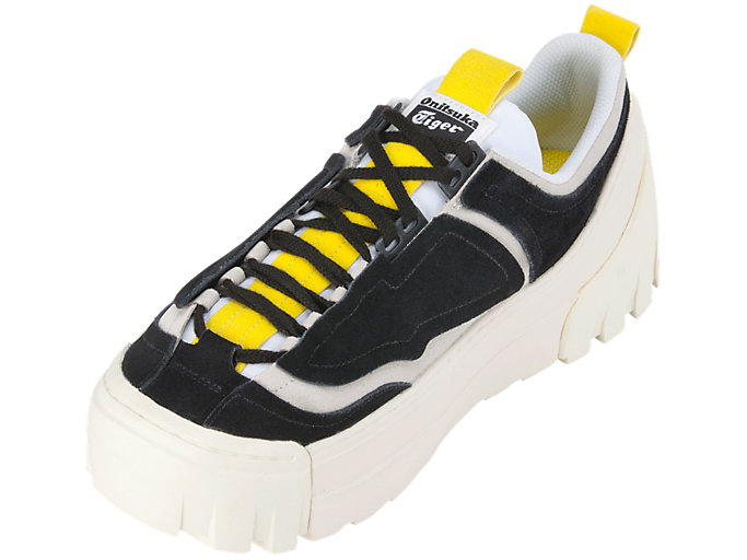 Front Left view of CHUNKY RUNNER LO, BLACK/VIBRANT YELLOW