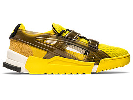 Right side view of Big Logo Runner Sandal, VIBRANT YELLOW/BLACK