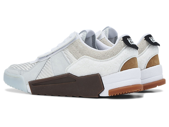 Front Left view of D-Trainer Slip-On, CREAM/POLAR SHADE