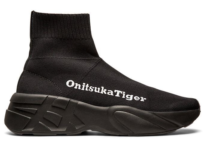 Right side view of P-TRAINER KNIT, BLACK/BLACK