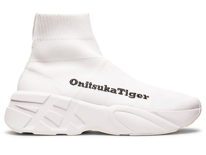 Right side view of P-TRAINER KNIT, WHITE/WHITE