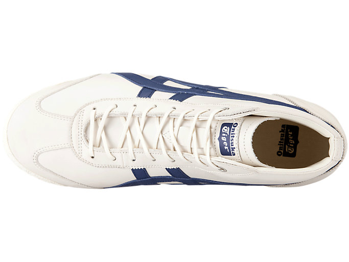 Top view of Mexico 66 Super Deluxe Mid-Runner, CREAM/INDIGO BLUE