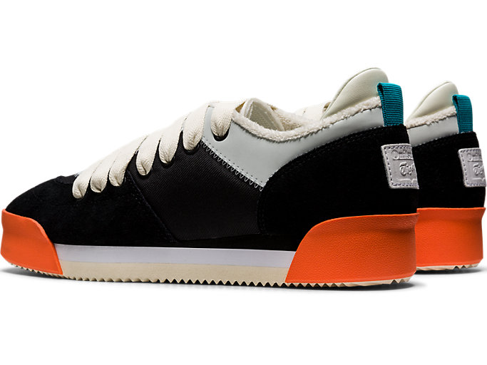 Front Left view of Kamo Trainer, BLACK/CREAM