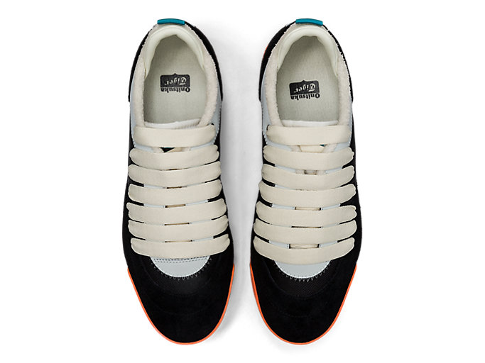 Top view of Kamo Trainer, BLACK/CREAM