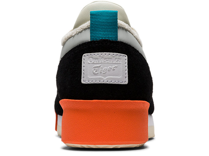 Back view of Kamo Trainer, BLACK/CREAM