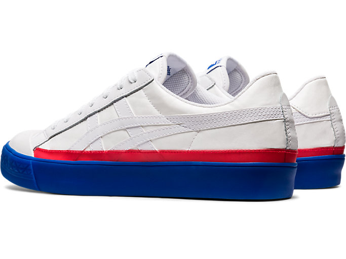 Front Left view of Fabre Classic Low Top, WHITE/WHITE