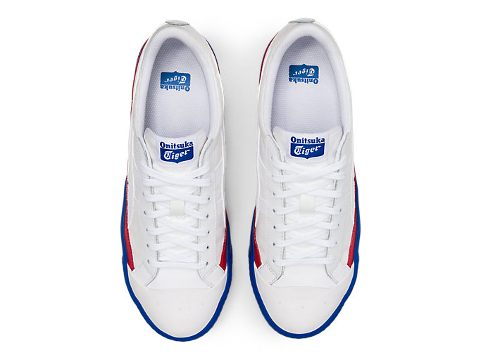 Top view of Fabre Classic Low Top, WHITE/WHITE