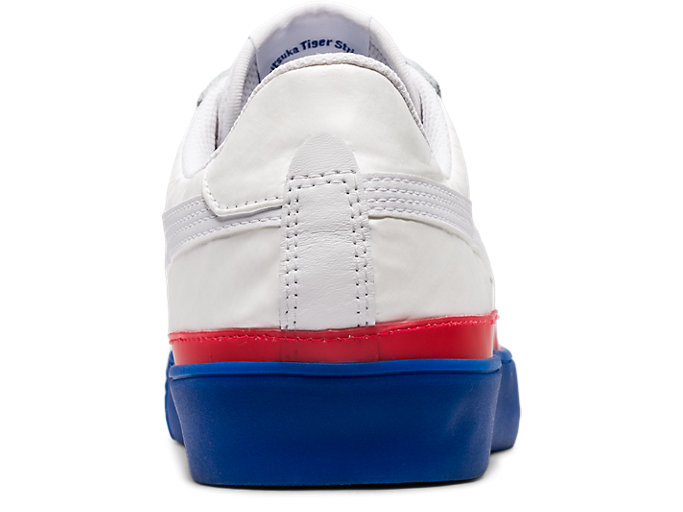 Back view of Fabre Classic Low Top, WHITE/WHITE