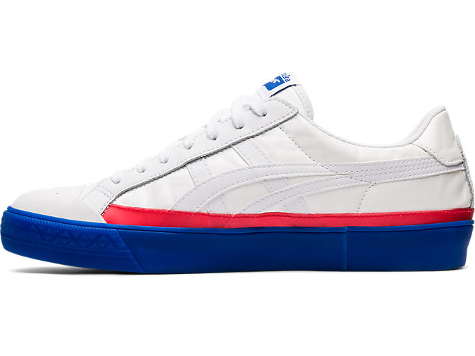 Left side view of Fabre Classic Low Top, WHITE/WHITE