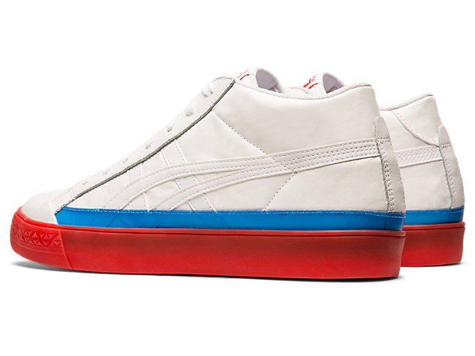 Front Left view of Fabre Classic Mid-Top, WHITE/WHITE