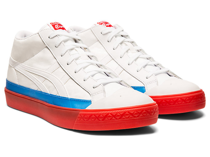 Front Right view of Fabre Classic Mid-Top, WHITE/WHITE