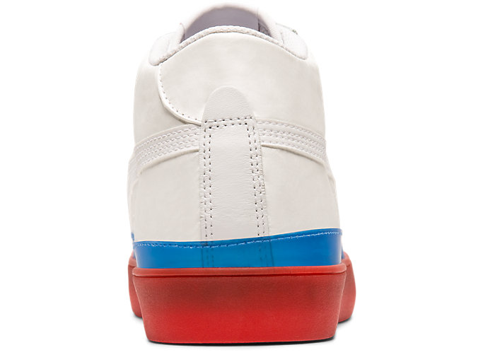 Back view of Fabre Classic Mid-Top, WHITE/WHITE