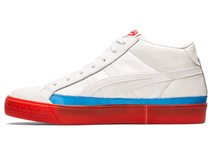 Left side view of Fabre Classic Mid-Top, WHITE/WHITE