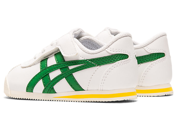 Front Left view of Tiger Corsair Pre-School, WHITE/GREEN