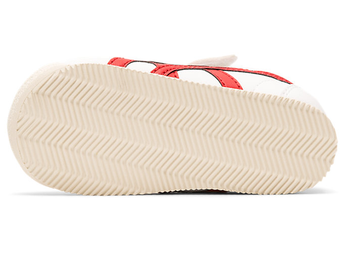 Bottom view of Tiger Corsair Pre-School, WHITE/CLASSIC RED