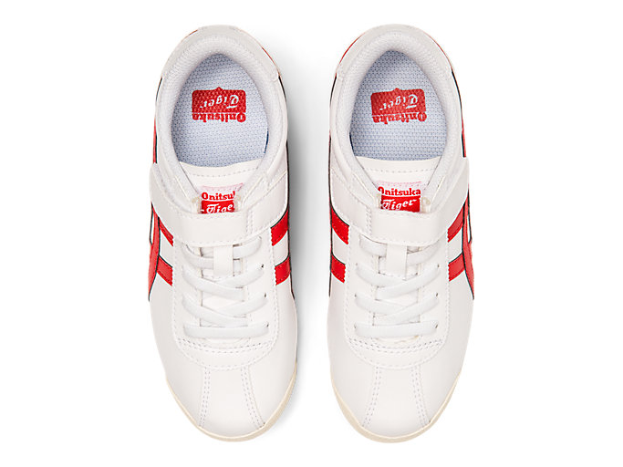 Top view of Tiger Corsair Toddler, WHITE/CLASSIC RED