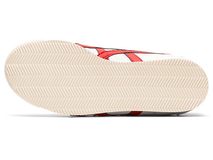 Bottom view of Tiger Corsair Toddler, WHITE/CLASSIC RED