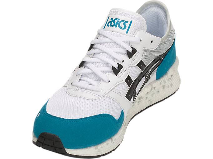 Front Left view of HyperGEL-LYTE, WHITE/TEAL BLUE