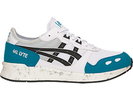 Right side view of HyperGEL-LYTE, WHITE/TEAL BLUE