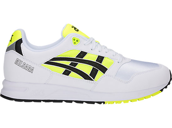 Details about ASICS Gel Saga Sneakers Casual Yellow Mens