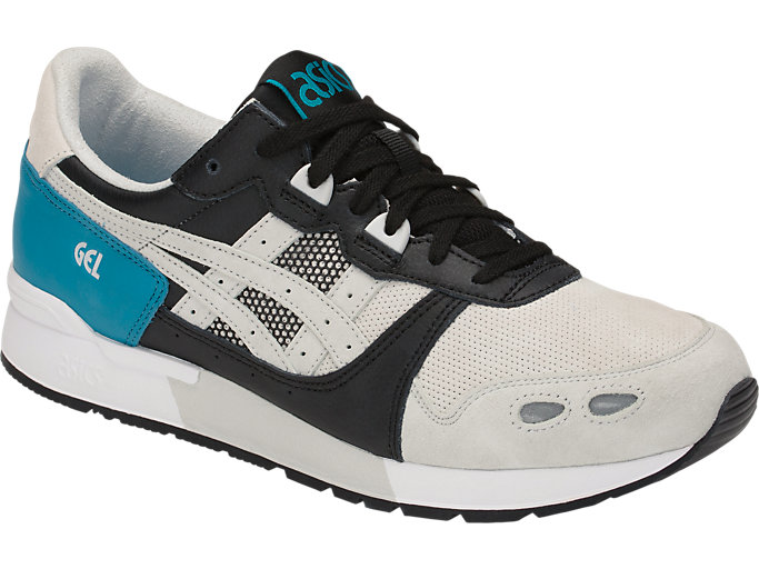 Front Right view of GEL-LYTE, TEAL BLUE/GLACIER GREY