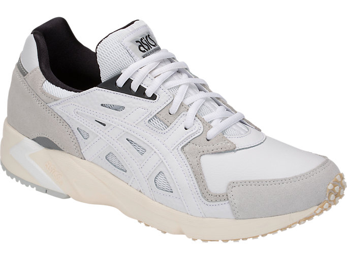 Front Right view of GEL-DS TRAINER OG, WHITE/WHITE