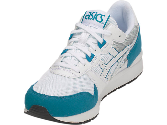 Front Left view of GEL-LYTE, WHITE/TEAL BLUE