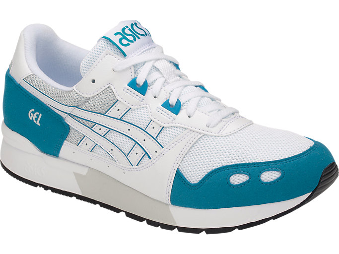 Front Right view of GEL-LYTE, WHITE/TEAL BLUE