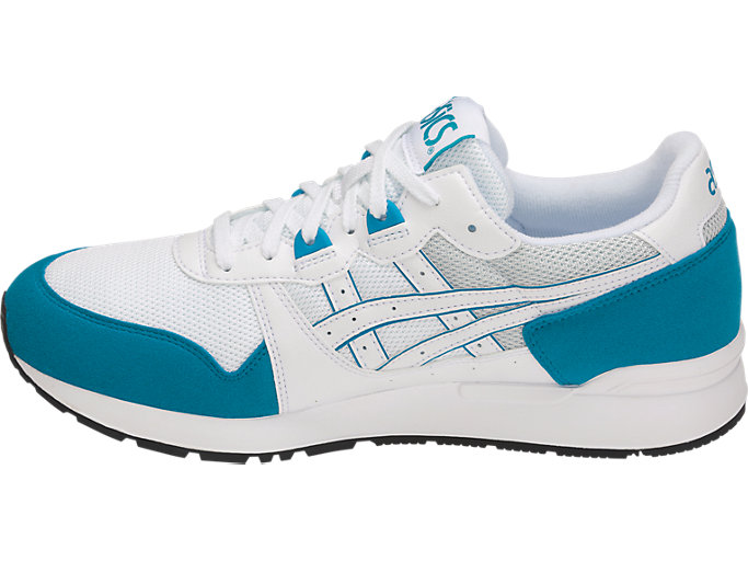 Left side view of GEL-LYTE, WHITE/TEAL BLUE