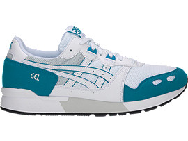 Right side view of GEL-LYTE, WHITE/TEAL BLUE