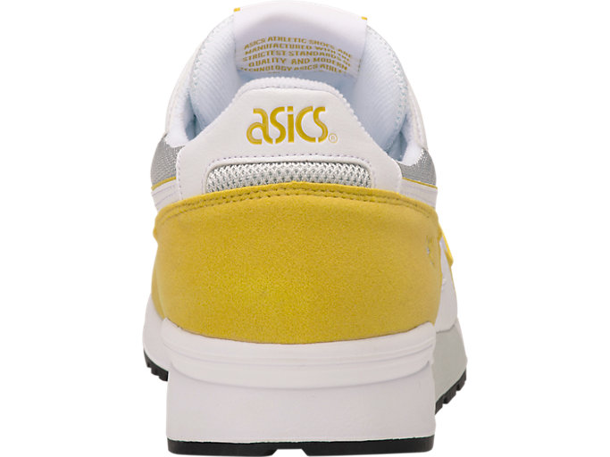 Back view of GEL-LYTE, WHITE/MUSTARD
