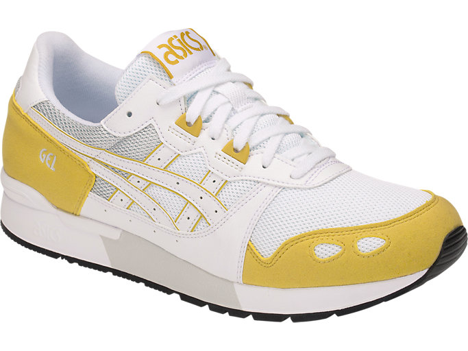 Front Right view of GEL-LYTE, WHITE/MUSTARD