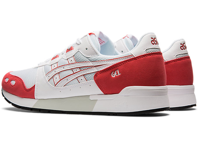 Front Left view of GEL-LYTE, WHITE/ROUGE