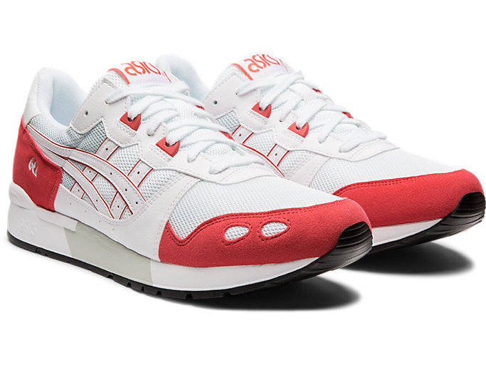 Front Right view of GEL-LYTE, WHITE/ROUGE