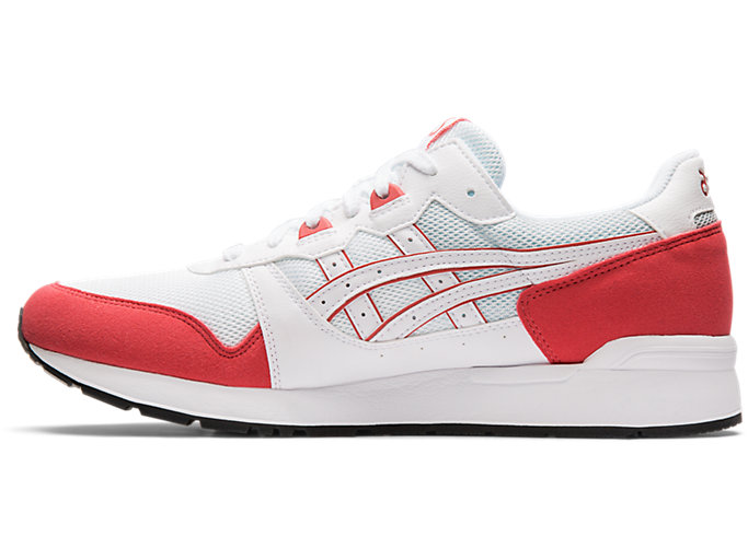 Left side view of GEL-LYTE, WHITE/ROUGE
